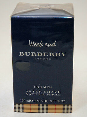 Burberry Week End For Men After Shave Natural Spray 100 Ml 2003 Editon