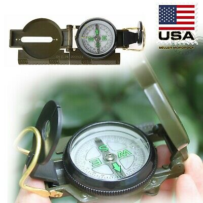 Pocket Brass Watch Style Compass Outdoor Camping Hiking Keychain Navigation