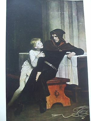 Antique Print C1930S Prince Arthur And Hubert By William Frederick Yeames Art
