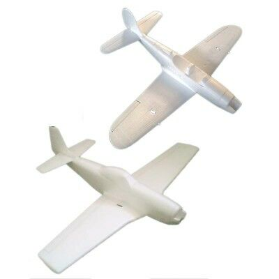 25IN P51 MUSTANG+P39 Airacobra RC Warbird Fighter Kit Two Plane Combo EPO  Foam