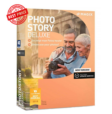 MAGIX Photostory Deluxe 2019 + Content Pack | Instant Download | Slideshow | PC