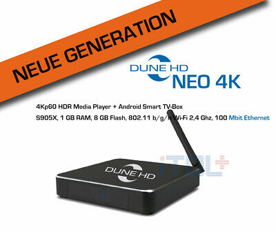 Dune HD Neo 4K - 4Kp60 HDR Mediaplayer und Android Smart TV Box