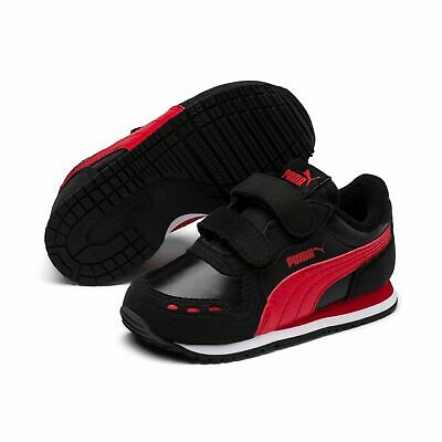Puma Cabana Racer Sl V Ps Children Shoes Trainers 360732 Puma Black Red
