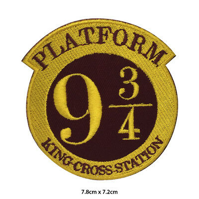 Harry Potter Platform 9 3/4 Embroidered Patch Iron on Sew On Badge For Clothes