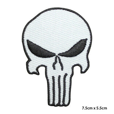 Morale Punisher Skull Embroidered Cloth Iron On Patch
