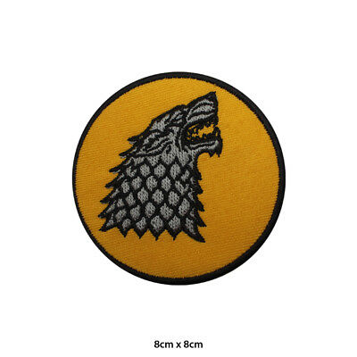 Stark Game of Thrones Stark Darewolf Embroidered Patch Iron on Sew On Badge