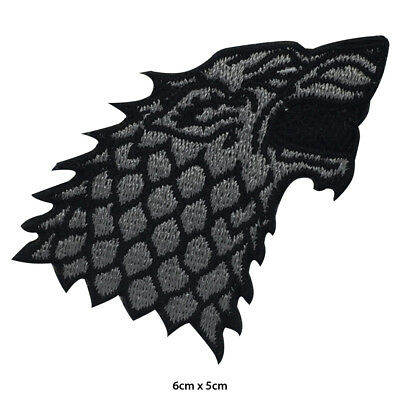GOT Game of Thrones House Stark Darewolf Embroidered Patch Iron on Sew On Badge