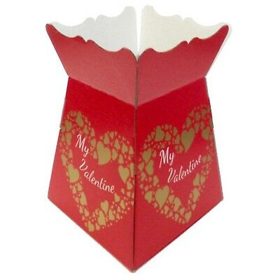 My Valentine - Red / Gold - Living Vases Florist Bouquet Box Flower Sweet Boxes