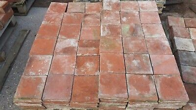 "Genuine Reclaimed Red Quarry Tiles 7""x7"" 