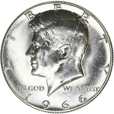 1966 Kennedy Half Dollar 40% Silver Choice BU US Coin