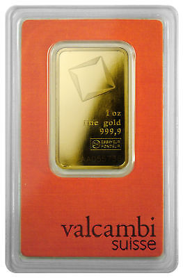 Daily Deal Valcambi Suisse 1 oz Gold Bar Sealed with Assay Certificate SKU28617