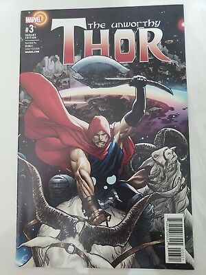 The Unworthy Thor #3 (2017) Marvel Comics 1St Print! Variant Cover Nm