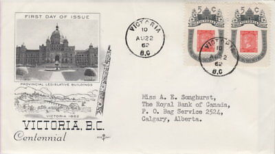 Canada #399 5¢ Victoria Centenary On Rosecraft Cachet First Day Cover
