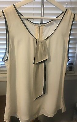 d30257a4ca43d Halogen Ivory Taylor Silk Top Sleeveless Blouse NWT LP large Petitie