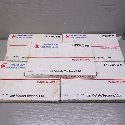 Hitachi 50-1R SB Roller Chain 10' Lot of 5 Boxes!