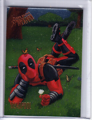 2017 Fleer Ultra Spider-Man Silver FOIL #73 DEADPOOL ePack Achievement Card