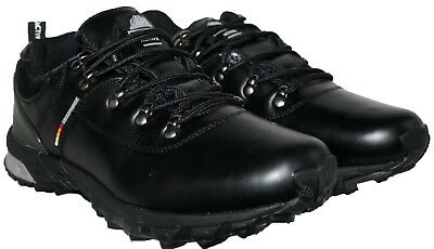 Mens Black Colour Leather Upper Lace Up Walking Shoe In Size 8
