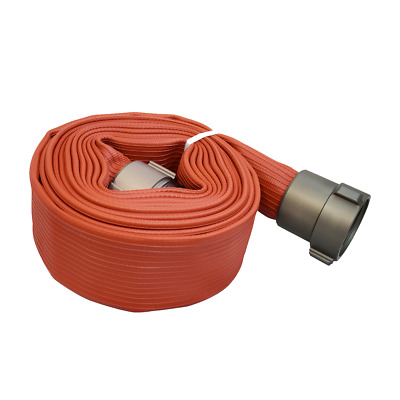 "Allenco 2-1/2"" x 25' Premium Rubber Coated Fire Hose (High Pressure, Pump Test)"
