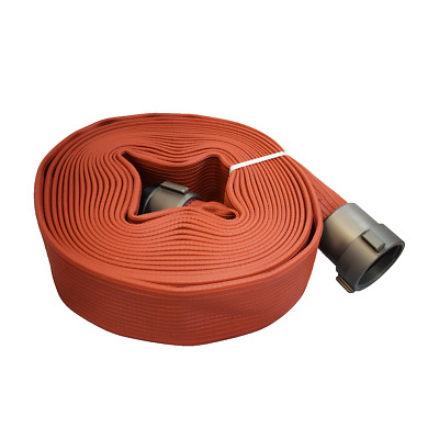 "Allenco 2-1/2"" x 50' Premium Rubber Coated Fire Hose (High Pressure, Pump Test)"