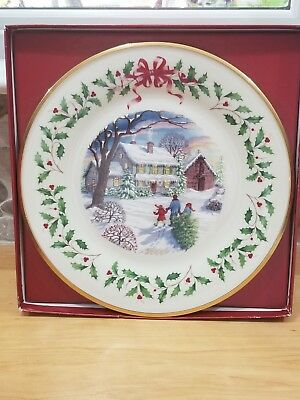 LENOX 2000 10th ANNUAL CHRISTMAS COLLECTOR HOLIDAY PLATE  - 10th in series