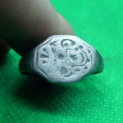 Superb Roman Medieval Silver Ring With Fine Details - Superb! Wearable