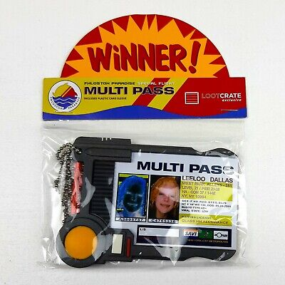 Fifth Element MULTI PASS Leeloo Dallas ID Prop REPLICA Multipass Loot Crate