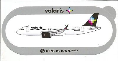 STICKER AUTOCOLLANT AIRBUS A320neo VOLARIS AIRLINES MEXICO