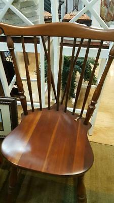 Set of 4 Statton Furniture Cherry Country Style Dining Room Chairs - Light Use!