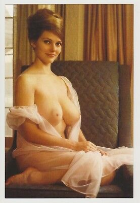 Postcard Pinup Risque Nude Stunning Girl Extremely Rare Photo Post Card 9436
