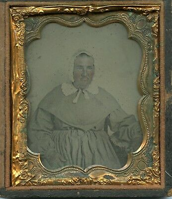 "1/6th Ambrotype of ""Beautiful"" Virginia ""Woman"" in bonnet"