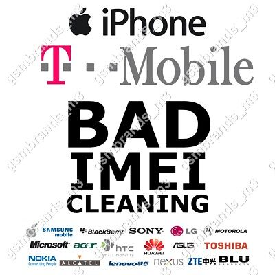 T-MOBILE TMOBILE USA BAD BLOCKED IMEI CLEANING iPhone 6 6s 6+ 6s+ 7 7+ 8 8+ X
