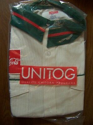 Vintage Coca-Cola Route Driver's Shirt - Mint In Orig Package - Size 19 1/2