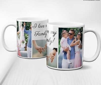 Personalised Mug Collage 3 Photos&Text