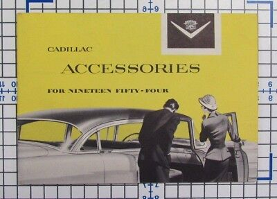 Vintage 1954 Cadillac car accessories catalog / brochure / book - Hard to Find