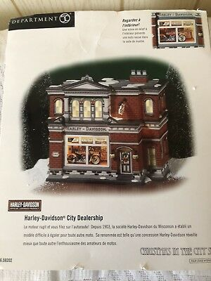 Dept.  56  Harley  Davidson  City  Dealership  Christmas  In The  City  #59202