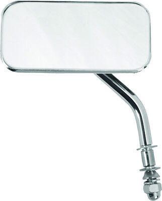 Harley-Davidson Universal Chrome Rectangular Left or Right Side View Mirror