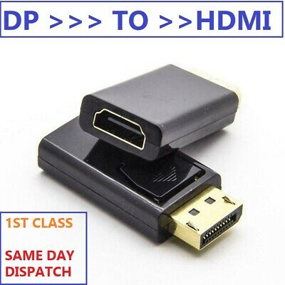 Display Port DP Male To HDMI Female Connector Flat Adapter Converter for HDTV PC