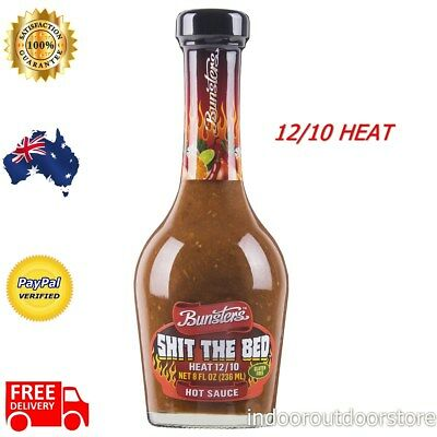 Shit the Bed Hot Chilli Sauce Scorpion Chilli Peppers Vegan BBQ Camping Picnic