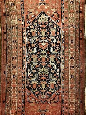 Marvelous Malayer - 1900s Antique Persian Rug - Tribal Carpet - 3.8 x 6.6 ft.