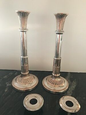 Antique silver plated candle sticks