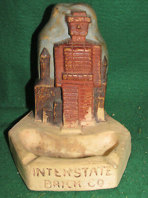 "Rare! Advertising Ashtray - ""Interstate Brick Co."" - Giant Brick ROBOT! - 1920's"