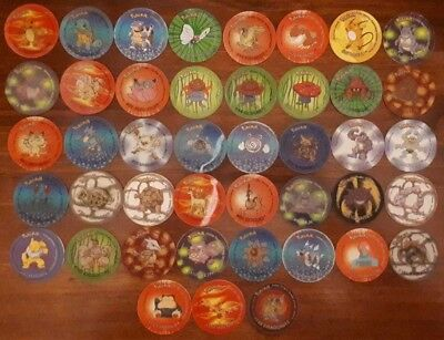 Pokemon Tazos Pugs 2 Matutano Lot of 43 with 25 holo