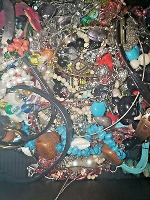 Jewelry Lot  VINTAGE TO NOW JEWELRY All wearable 10-20 Pieces 1/2 Pound!