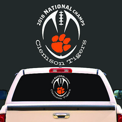 Clemson Tigers 2018 National Champs Vinyl Decal Sticker - BUY 2 GET 1 FREE