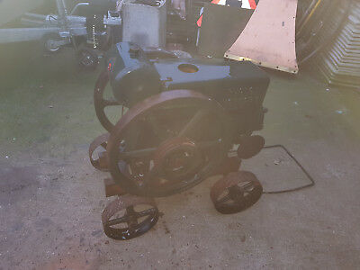Vintage 1930s Ruston Hornsby 4.5 hp PB on trolley