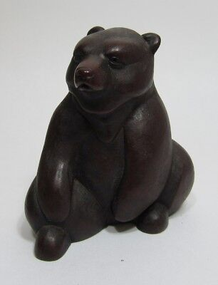"""BOMA Seated Bear Figurine, 2 1/2"""" tall, Made in Vancouver, Canada"""