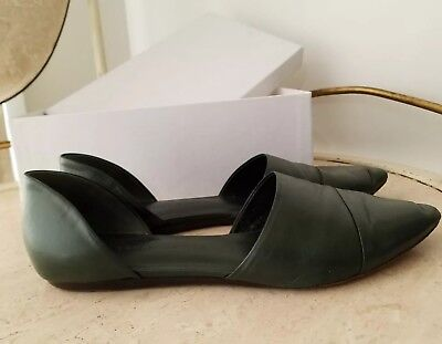 Jenni Kayne d'Orsay Smooth Leather Pointed Toe Flats Shoes 39 9 Italy Luxe $450