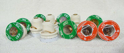 Lot of 12- FUSTAT TIME DELAY SCREW IN TYPE BUSSMANN FUSE,7-30amp,3-25amp,2-20amp
