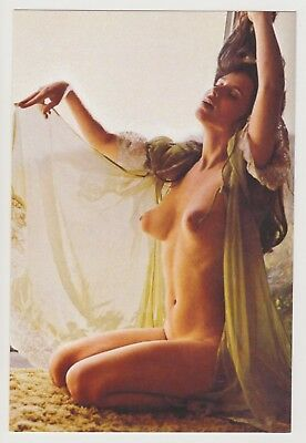 Postcard Pinup Risque Nude Stunning Girl Extremely Rare Photo Post Card 9459