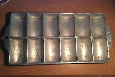 GRISWOLD NO.11 CAST ALUMINUM MINI-BREAD/FRENCH LOAF PAN ERIE PA USA c.1920-50s